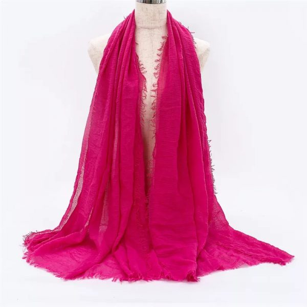 Pink Cotton Scarf for Women Size 70* 175cm