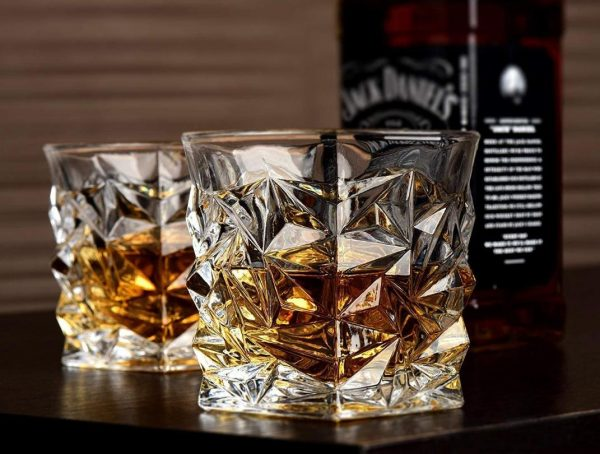 Swanky Diamond Cut Whiskey Glass Set of 6-pcs