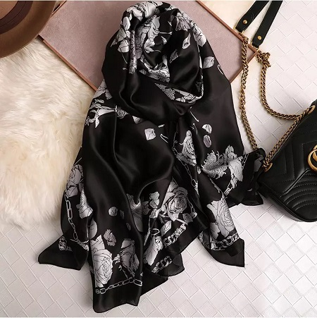 Silk Scarves for Women Floral Latest Stoles