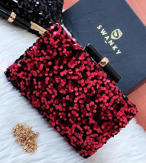 Evening Clutches Party bags for Weddings | SW-SQ-CL/RD