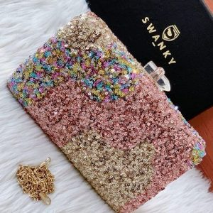 Designer Party Wear Clutches Purse | SW-SQ-CL-/MLT
