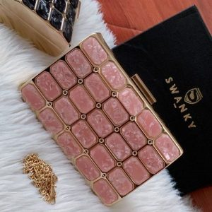 Designer Pink Party Clutch Purse | SW-SQ-CL-/PIK