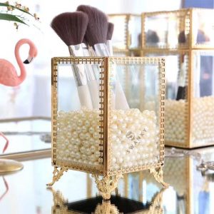 Swanky Acrylic Makeup Brush Pearl holder