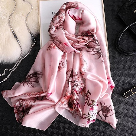 Latest Silk Stoles Online Printed Pattern Scarves