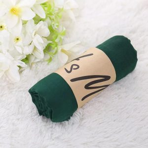 Dark Green Cotton Scarf Size-70* 175CM | SW-CT-DG