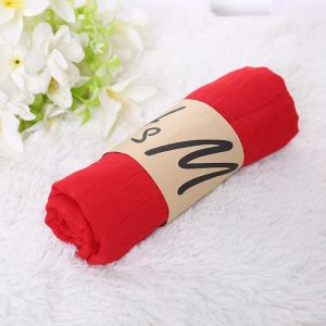 Plain Red Cotton Scarf Size 70X175CM | SW-CT-RD