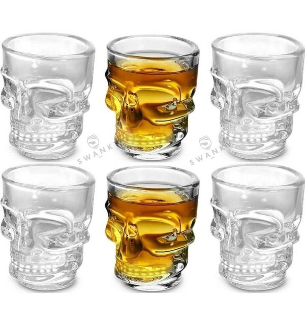 Swanky Crystal Wine Glass Set of 6 Pcs Online