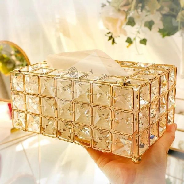 Crystal Tissue Box Removable Tissue Napkin Dispenser