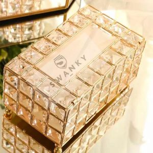 European Crystal Tissue Box Holder