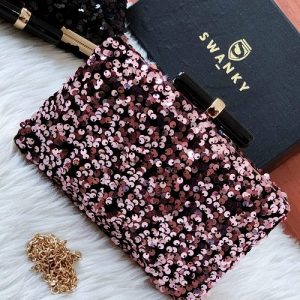Designer Pink Party Clutches | SW-SQ-CL/PNK