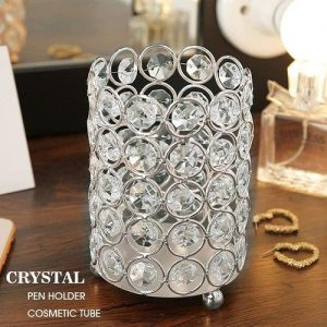 Swanky Crystal Makeup Brush Storage box