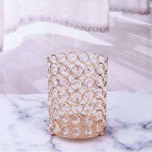 European crystal makeup brush holder