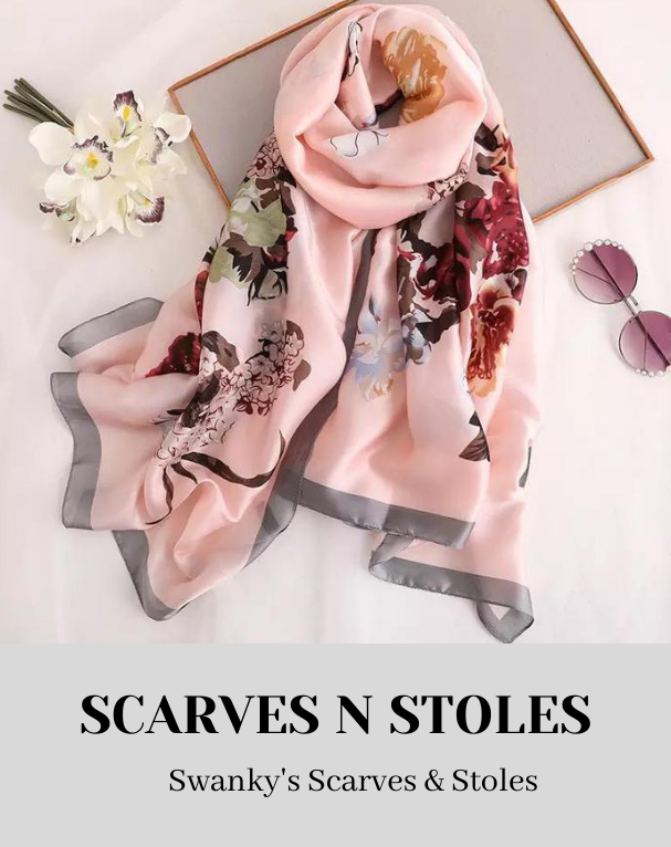 Swanky Silk Stoles and Scarves