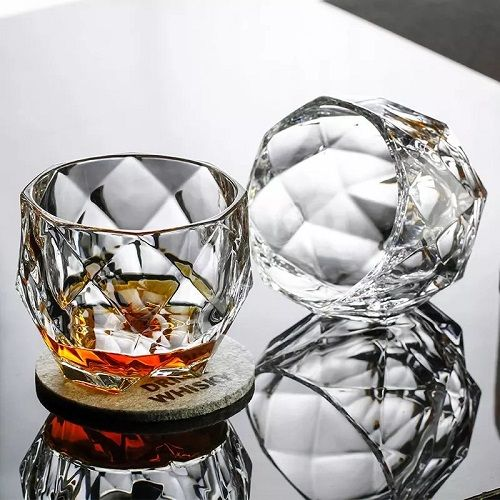 Swanky Crystal Whisky Glass Cup | Set of 2-Pcs