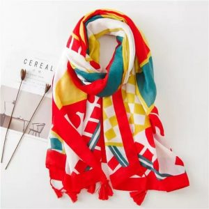 Pure Cotton Stoles Online Colorful Floral Print