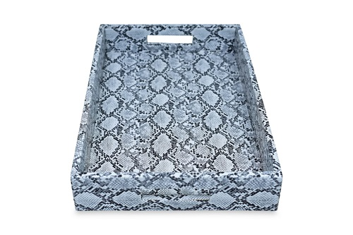 Faux Leather Serving Tray with handles Home Décor